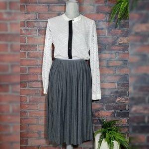 Banana Republic Midi Pleated Knit Skirt